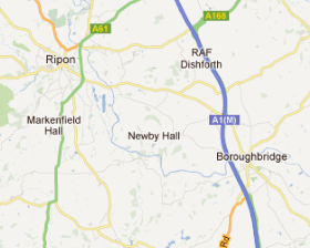 Location Map - Newby Hall
